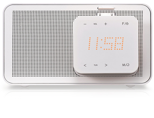 LG ND1520 iPod Docking Speaker in White with Alarm Clock  FM Radio and Auto EQ Technology