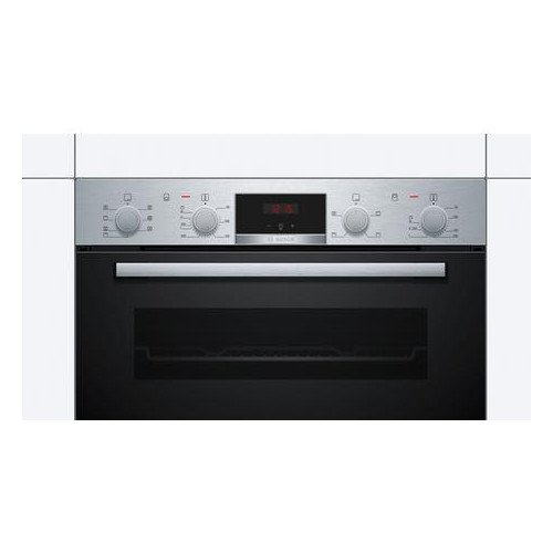 Bosch MBS533BS0B 59.4cm Built In Electric Double Oven with 3D Hot Air Stainless Steel