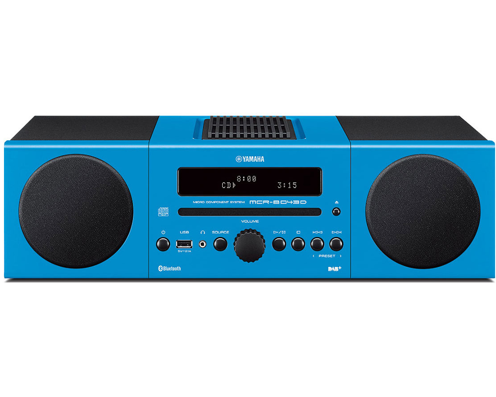 Yamaha MCRB043D Desktop Micro HiFi System in Light Blue