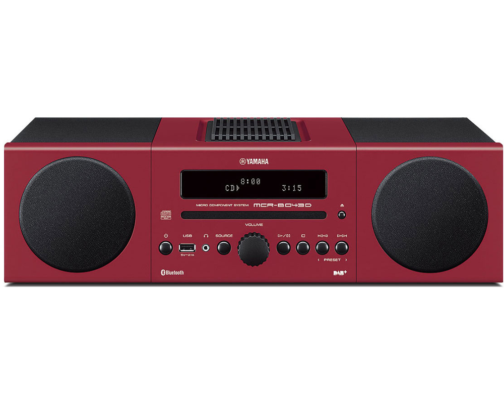 Yamaha MCRB043D Desktop Micro HiFi System in Red