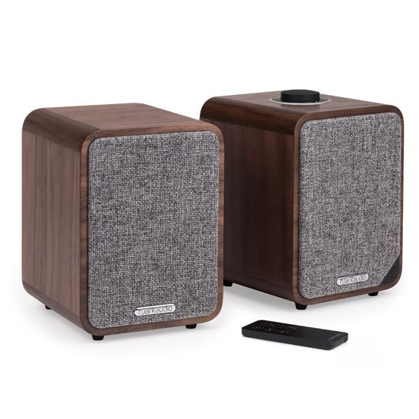Image of MR1 Mk2 Bluetooth Speaker System - Rich Walnut Veneer