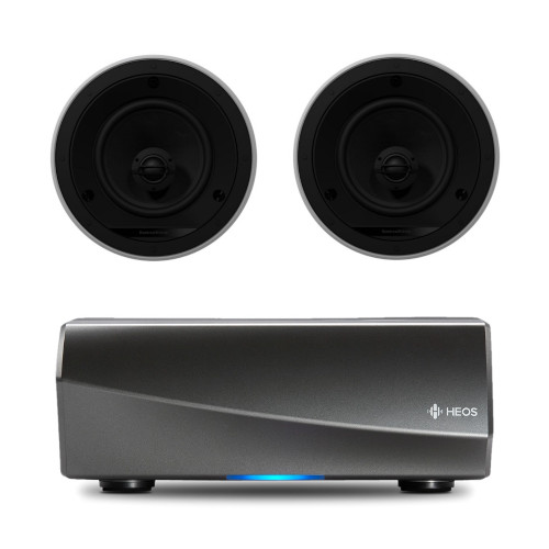 Denon HEOS Amp HS2 Wireless Multiroom Amplifier WIth Bowers & Wilkins CCM665 Ceiling Speakers