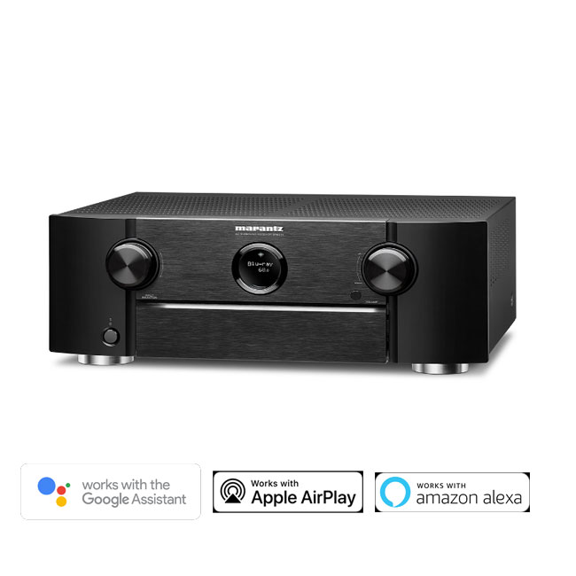 Marantz SR6014 9.2 Channel 4k Ultra HD AV Receiver with HEOS Built-in with Amazon Alexa and Google Assistant Black