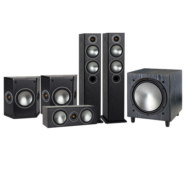 Monitor Audio Bronze 5 AV 5.1 Speaker package Black Oak
