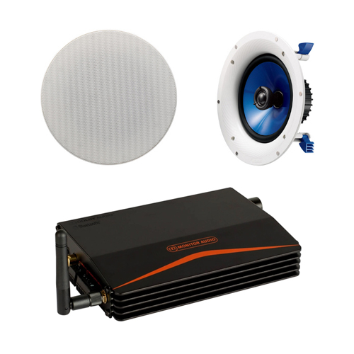 Monitor Audio IA40-3 Installation Amplifier with Yamaha NSIC800 In-Ceiling Speakers (Pair)