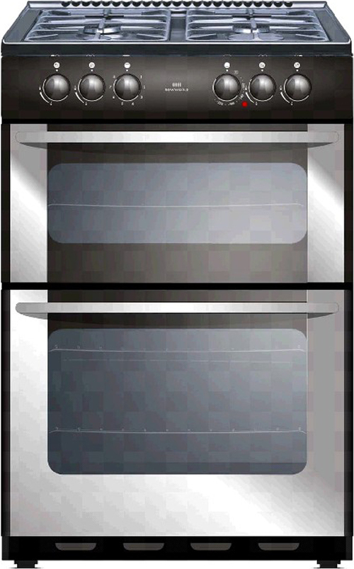 New World NW55TWLG LP 55cm Freestanding LPG Gas Cooker in Stainless Steel with FSD