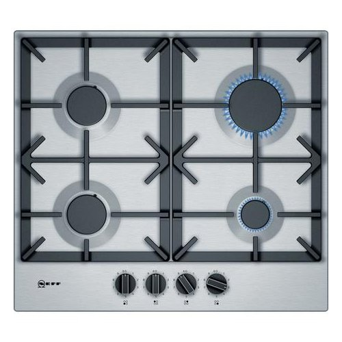 Neff T26DS49N0 60cm Gas Hob Stainless Steel