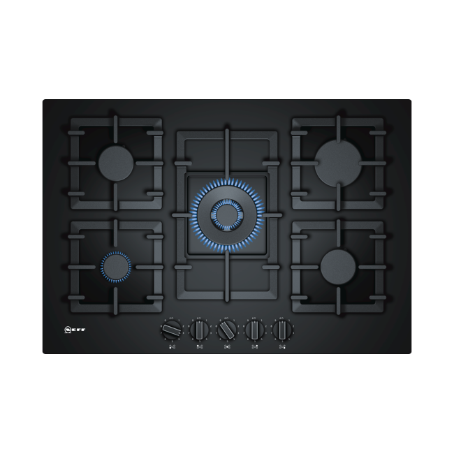 Neff T27CS59S0 75 cm Hob Black Tempered Glass