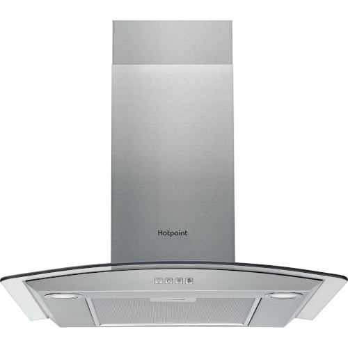 Hotpoint PHGC7.4FLMX 70 cm Chimney Cooker Hood – Stainless Steel – D Rated