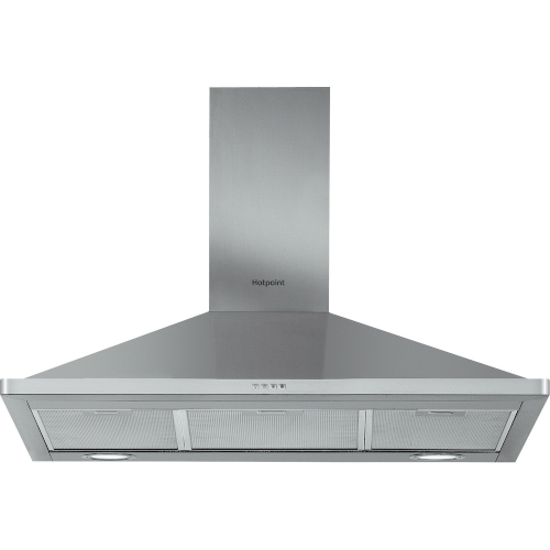 Hotpoint PHPN95FLMX 90cm Chimney Cooker Hood Stainless Steel