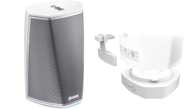 Denon HEOS 1 HS2 and HEOS 1 Go Pack in White