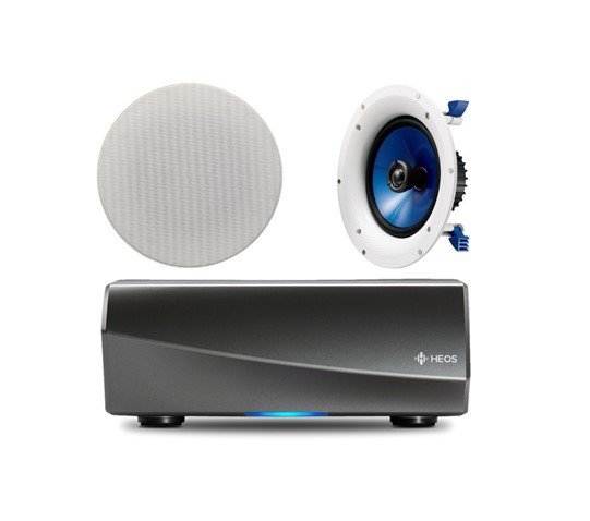 Denon HEOS Amp HS2 Wireless Multiroom Amplifier with 1 Pair of Yamaha NSIC800 in-Ceiling Speakers