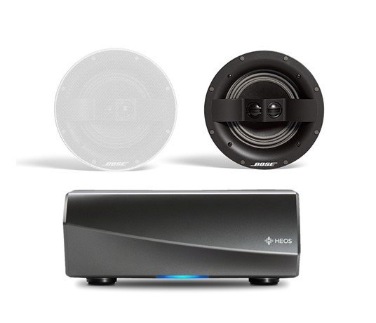Denon HEOS Amp HS2 Wireless Multiroom Amplifier with Bose Virtually Invisible 791 Ceiling Speakers II