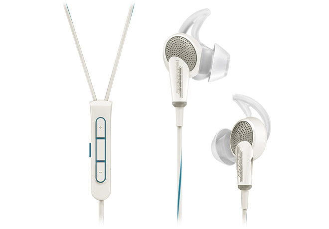 Bose® QuietComfort® 20 Acoustic Noise Cancelling® Headphones in White for Selected Apple Devices