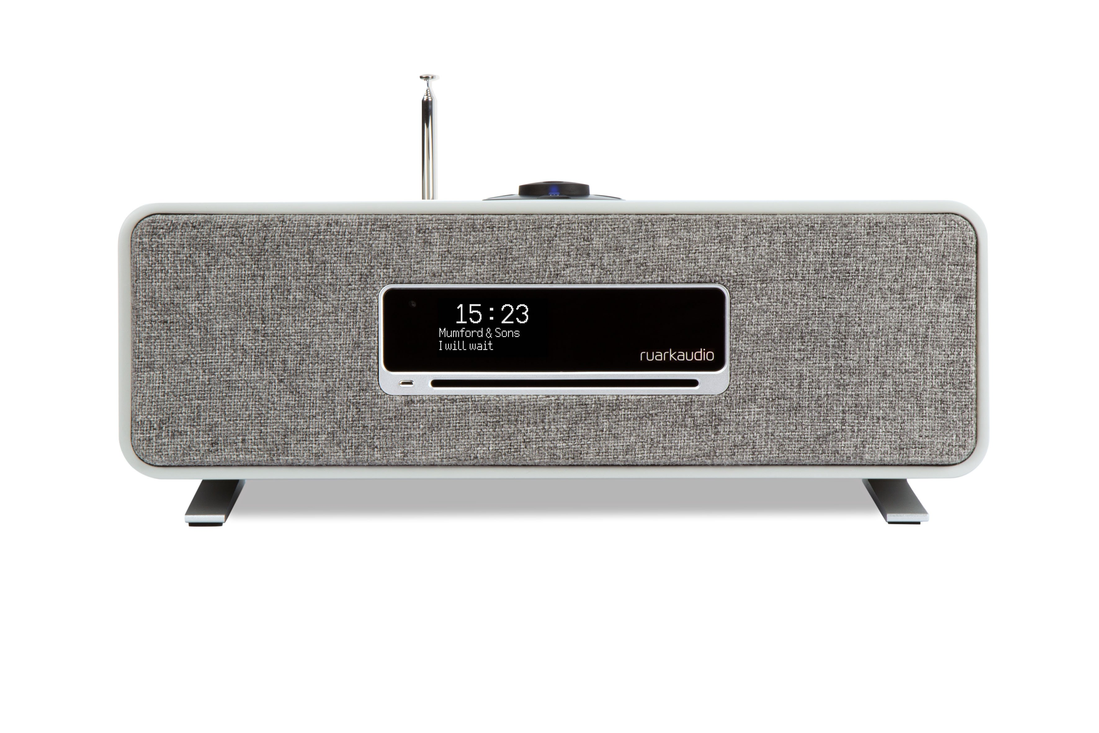 Ruark R3 Compact Wireless Music System Soft Grey side