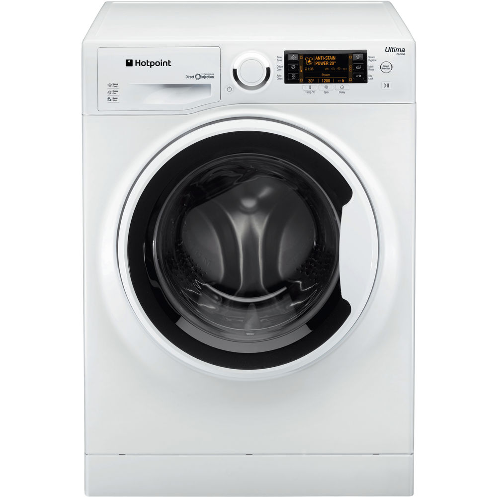 Hotpoint Ultima SLine RPD10657J 10 Kg 1600 RPM Washing Machine in White