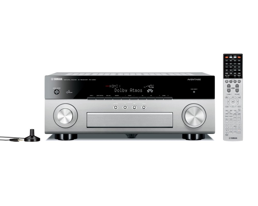Yamaha RXA850 AVENTAGE 7.2 Channel Network AV Receiver in Silver with WiFi and Bluetooth Built In