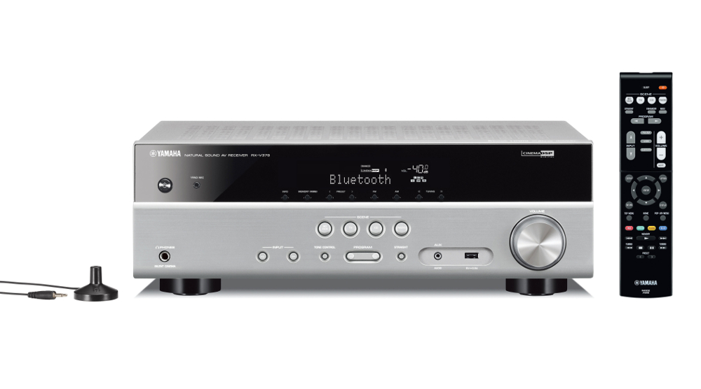 Yamaha RXV379 5.1 Channel AV Receiver in Titanium with Bluetooth for Wireless Music Streaming