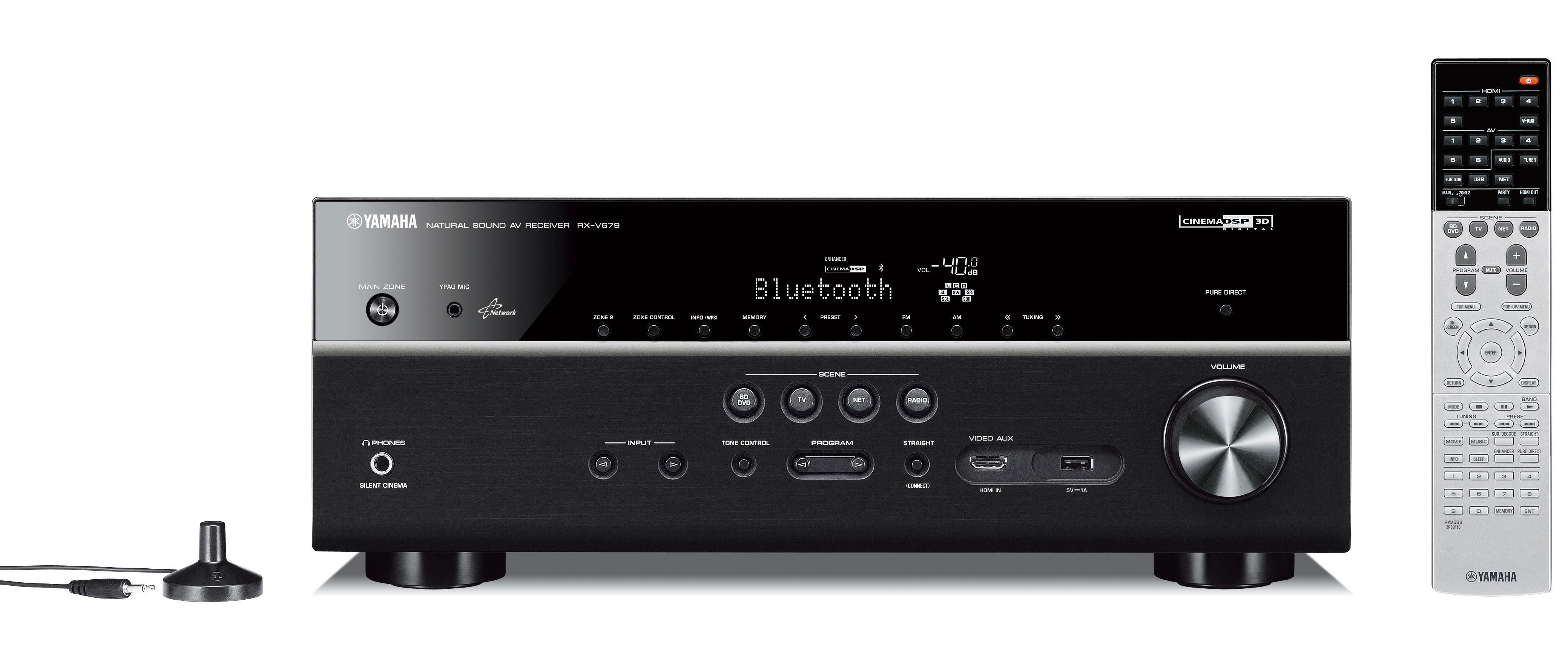 Yamaha RXV679 7.2 Channel Network AV Receiver in Black with WiFi and Bluetooth