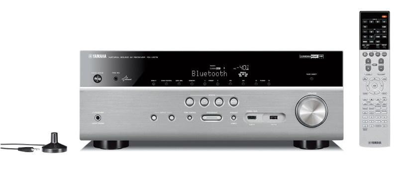 Yamaha RXV679 7.2 Channel Network AV Receiver in Titanium with WiFi and Bluetooth