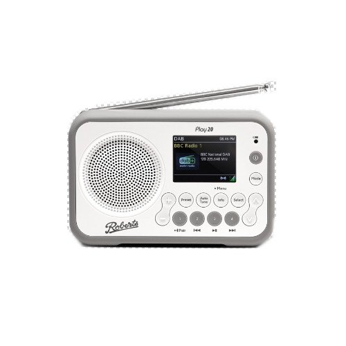 Image of Roberts Play 20 DAB DAB+ FM Portable Radio with Bluetooth White