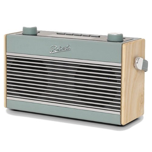 Roberts Rambler BT DAB DAB+ FM RDS Stereo Digital Radio with Bluetooth Alarms and ECO Power Saving Mode in Duck Egg Blue