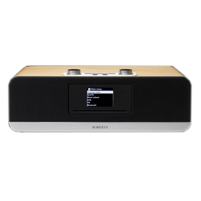 Image of Roberts Stream 67 DAB+ FM Internet Radio Wi-Fi Bluetooth All-In-One Smart Music System Natural Wood