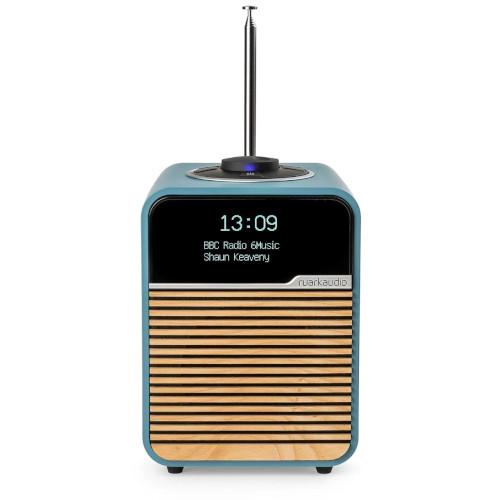Image of R1 Mk4 Deluxe Table Top Radio   Beach Hut Blue