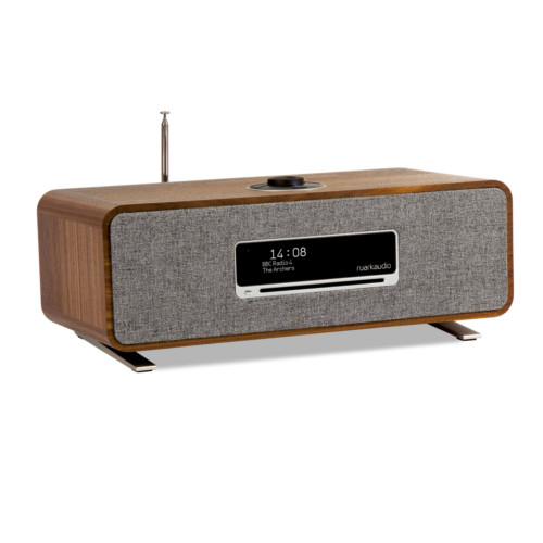 Image of R3 Compact Music System CD, DAB, Internet Radio - Rich Walnut Veneer