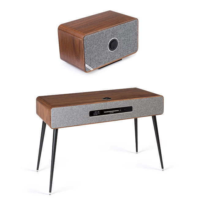 Audio Systems Ruark R7 Mk3 DAB DAB+ FM Internet Radio & CD Bluetooth Wi-Fi Wireless All-In-One Music System Walnut and MRx Wireless Speaker Walnut