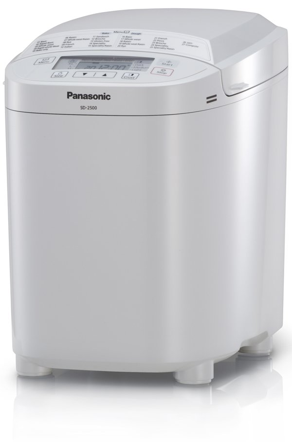 Panasonic SD2500WXC Automatic Bread Maker in White, Which? Best Buy Oct 2012