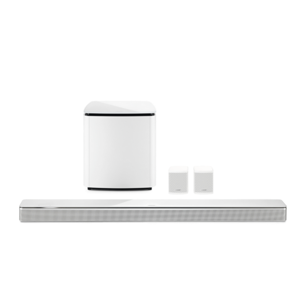 Bose Soundbar 700 with Bass Module 700 Subwoofer and Surround Speakers in White