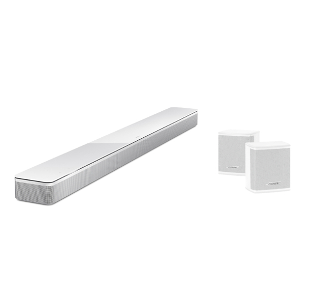 Bose Soundbar 700 with Surround Speakers in White