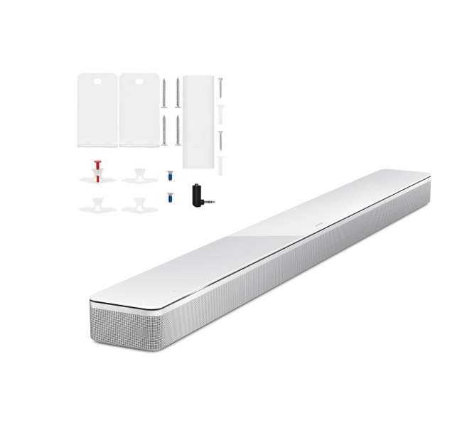 Bose Soundbar 700 with Wall Bracket in White