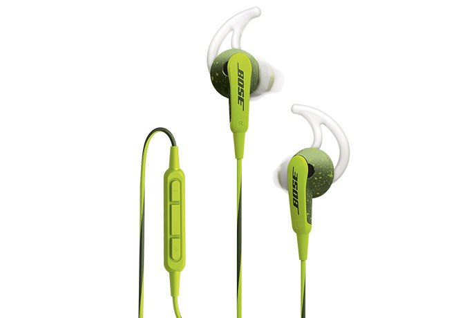 Bose® SoundSport® InEar Headphones in Energy Green for Selected Apple Devices
