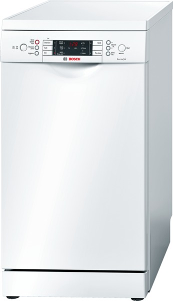 Bosch SPS59T02GB 45cm Slimline Dishwasher in White with 10 Place Settings
