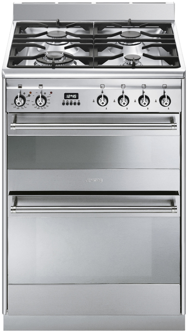 Smeg SUK62MX8 60cm Dual Fuel Cooker in Stainless Steel PLUS Optional Hood Offer Available
