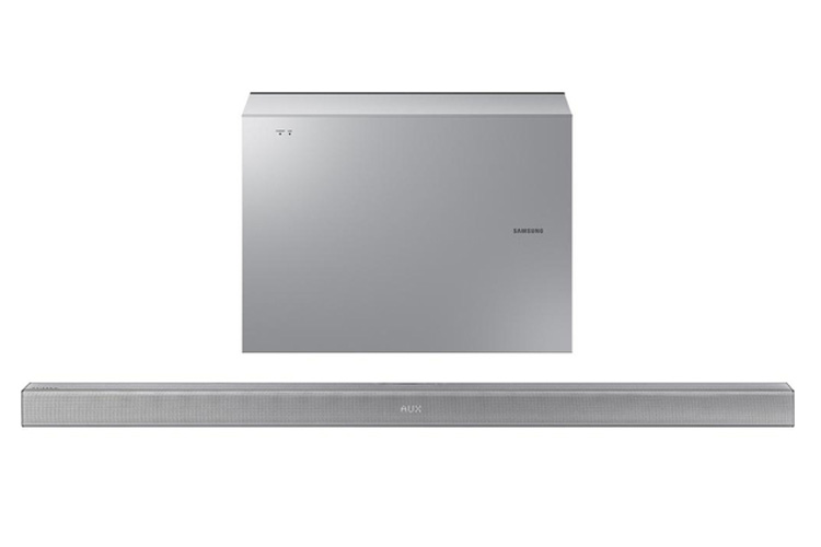 Samsung HWJ551 2.1 channel soundbar with Bluetooth and wireless connectivity in Silver