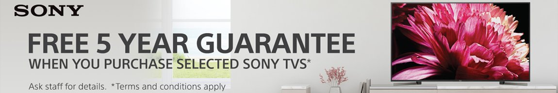 Sony TVs 5 Year Guarantee