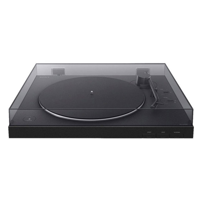 Sony PSLX310BT Turntable with Bluetooth Connectivity Black Front 2