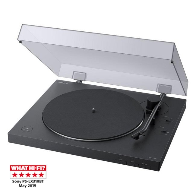 Sony PSLX310BT Turntable with Bluetooth Connectivity Black Side
