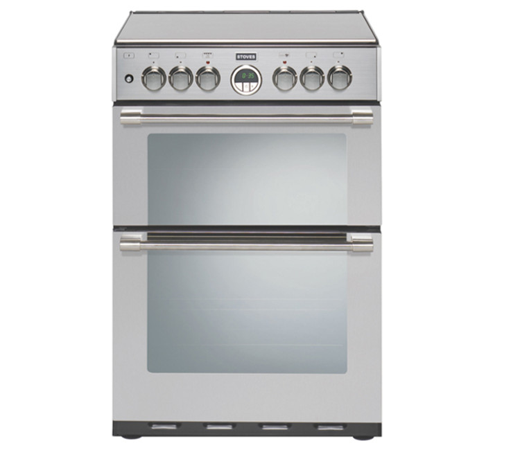 Stoves STERLING 600DF 60cm Dual Fuel Cooker in Stainless Steel