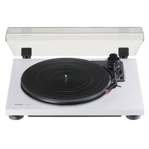 TEAC TN180BT Bluetooth 3-speed Analog Turntable with Phono EQ In White
