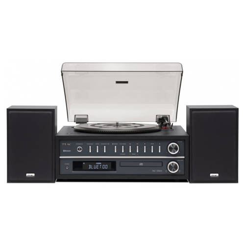 TEAC MC-D800 3 Speed Bluetooth Turntable System with Speakers In Black