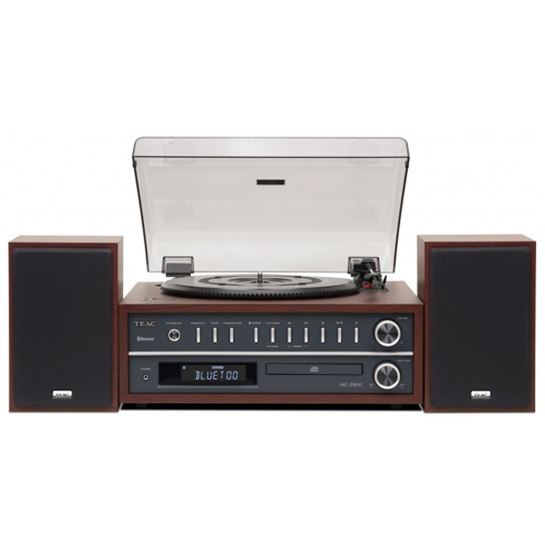 TEAC MC-D800 3 Speed Bluetooth Turntable System with Speakers Cherry