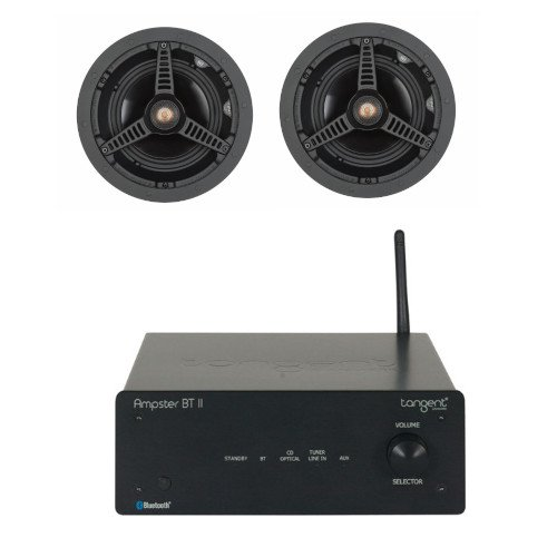 Tangent Ampster BT II Stereo Amplifier with Bluetooth with Monitor Audio C165 Ceiling Speakers (Pair)