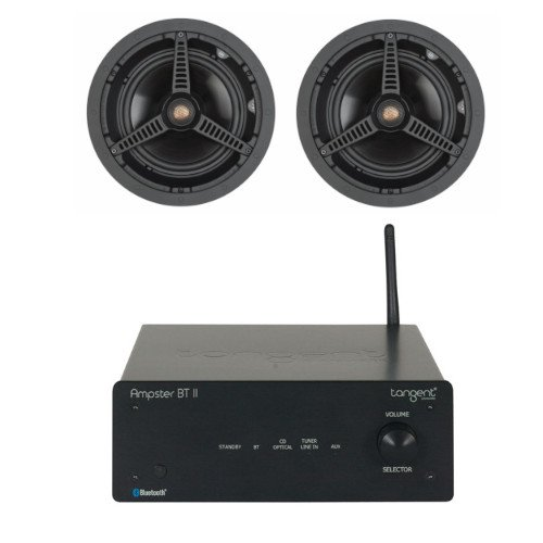 Tangent Ampster BT II Stereo Amplifier with Bluetooth with Monitor Audio C180 Ceiling Speakers (Pair)