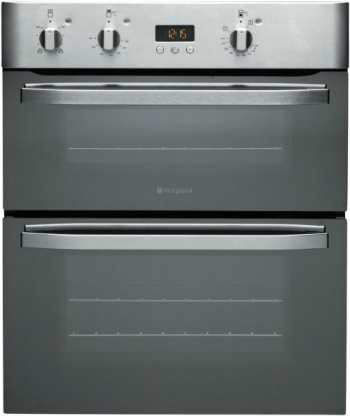 Hotpoint UHS53XS 60cm Wide Built Under Electric Double Oven in Stainless Steel