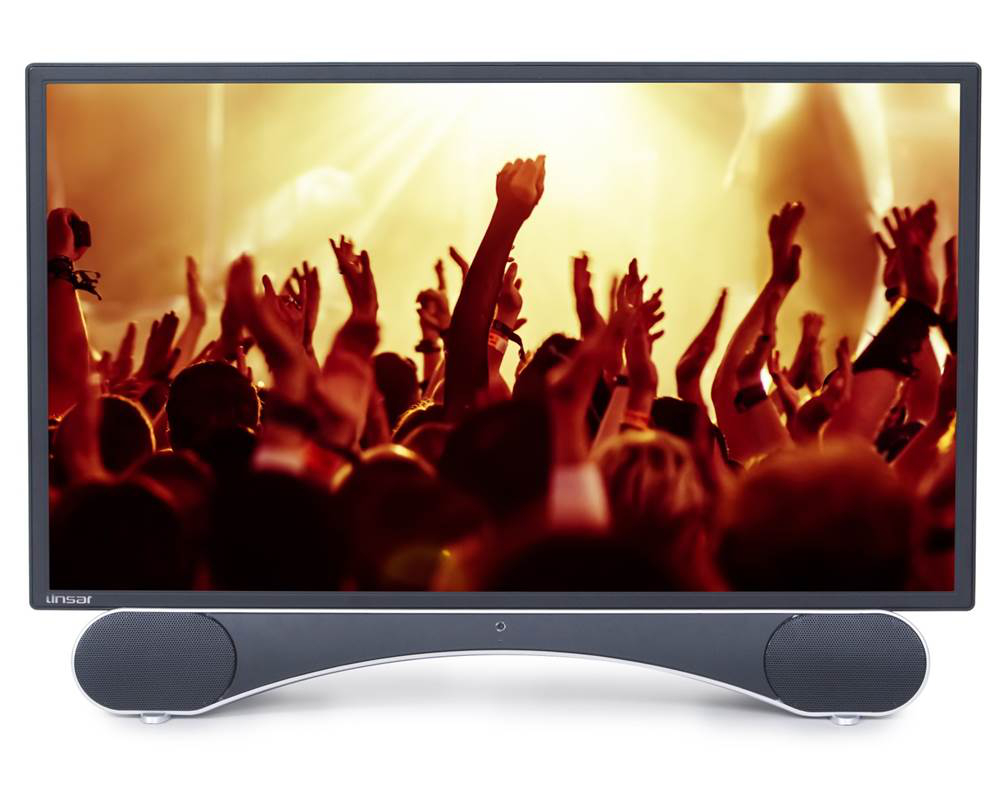 Linsar X24DVD 24 inch Full HD LED TV with Built In DVD Player Sound Bar Bluetooth and Freeview HD  Free 5 Year Warranty via Registration