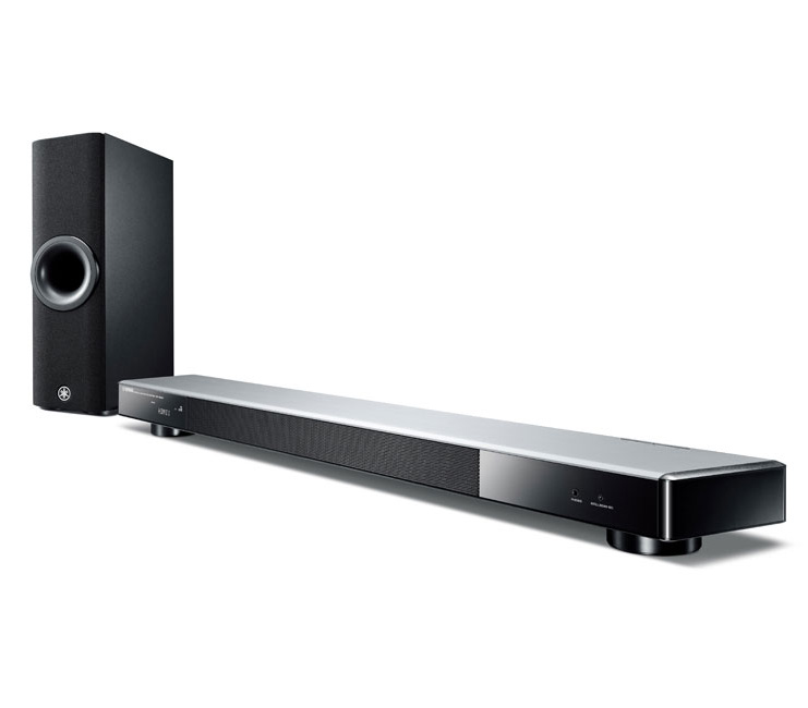 Yamaha YSP2500 Silver Digital Sound Projector Soundbar with a Wireless Active Subwoofer & Bluetooth